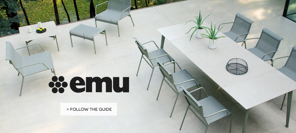 emu new collection on made in design patio or garden