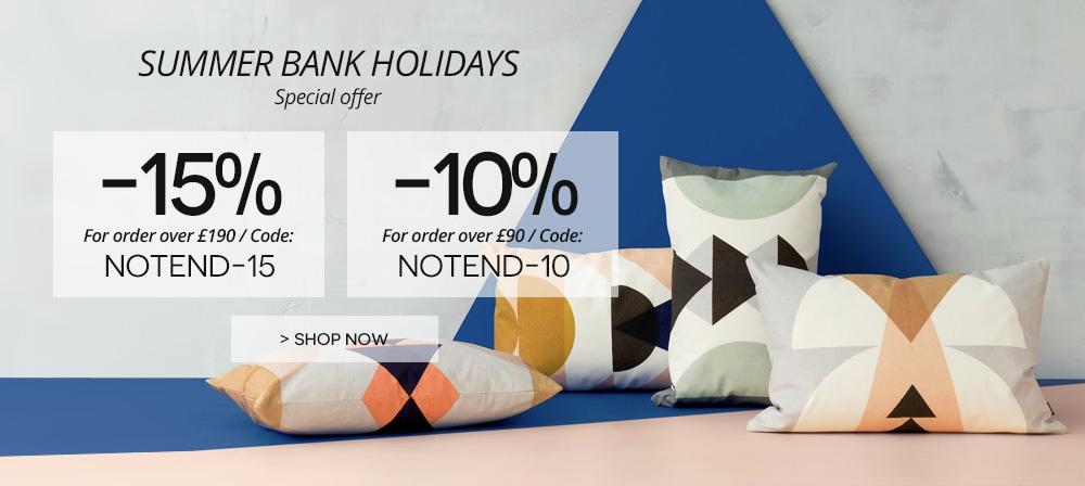 offer summer bank holidays on made in design