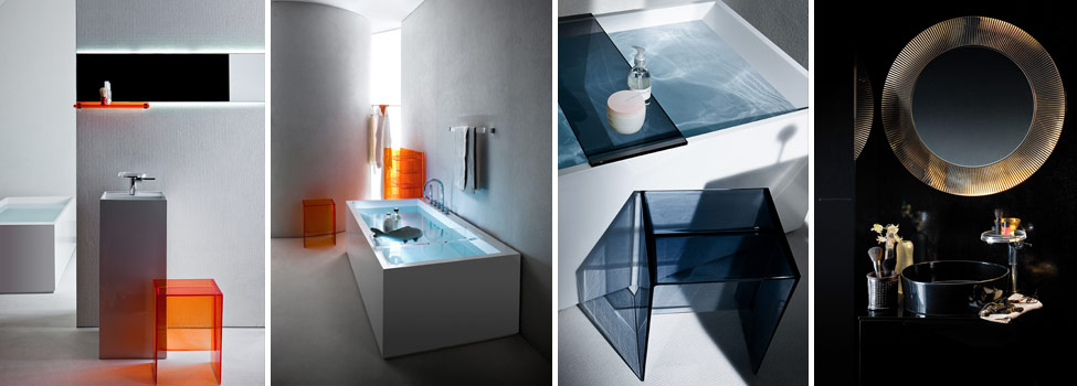 accessori bagno kartell boiserie in ceramica per bagno