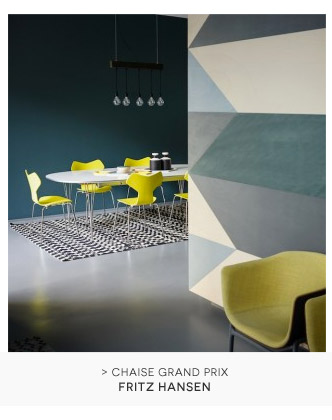Chaise empilable Grand Prix Fritz Hansen