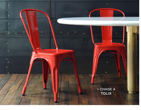 Chaise empilable A / Acier Tolix
