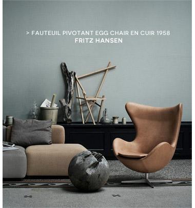 Fauteuil pivotant Egg chair Fritz Hansen