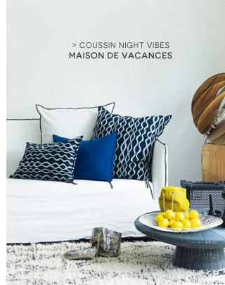 Coussin Night Vibes Maison de Vacances