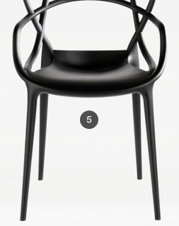 Fauteuil empilable Masters Kartell