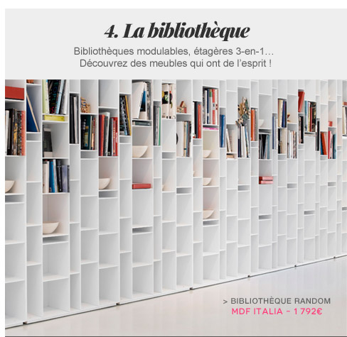 Bibliothèque Random MDF Italia
