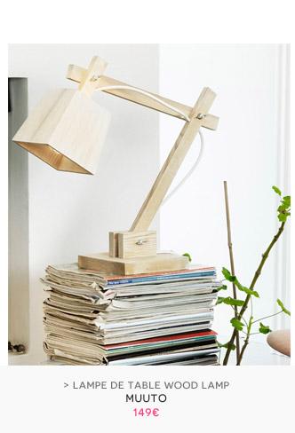 Lampe de table Wood Lamp Muuto