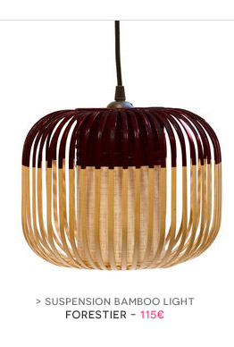 Suspension Bamboo Light Forestier