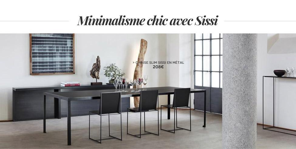 Chaise Slim Sissi Métal Zeus