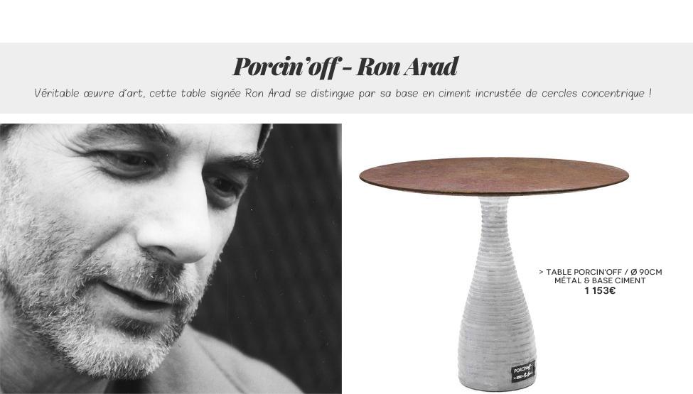 Table Porcin'off Zeus