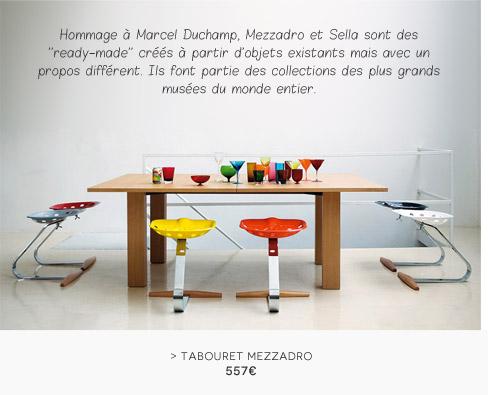 Tabouret Mezzadro / Métal - Zanotta