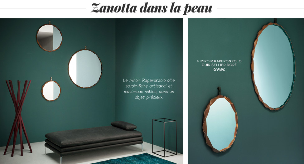 Miroir Raperonzolo - Cuir - Zanotta