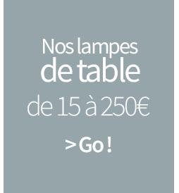 Nos lampes de table de 15 à 250€