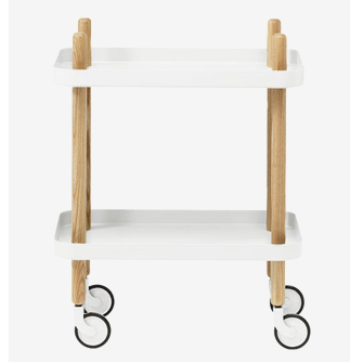 The multipurpose kitchen trolley as bedside table