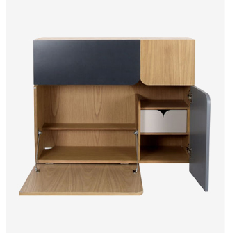 The wall unit writing deak with compartments