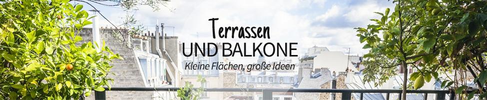 Terrassen und Balkone: Kleine Flächen, große Ideen
