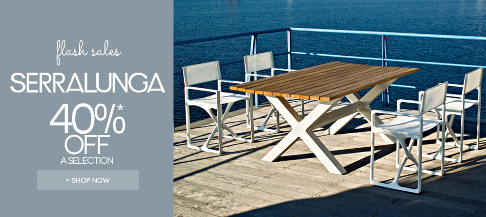 serralunga outdoor furniture on Made In Design