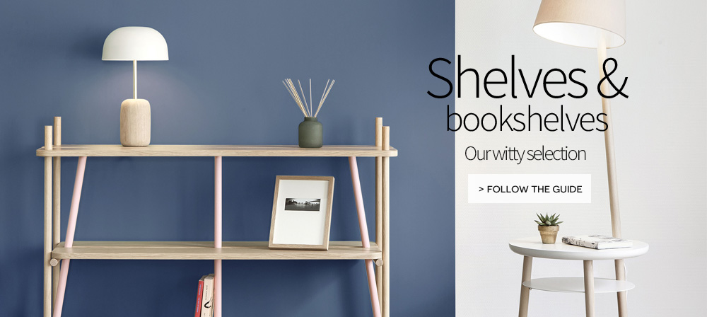 Shelves and bookcases designer creations on made in design