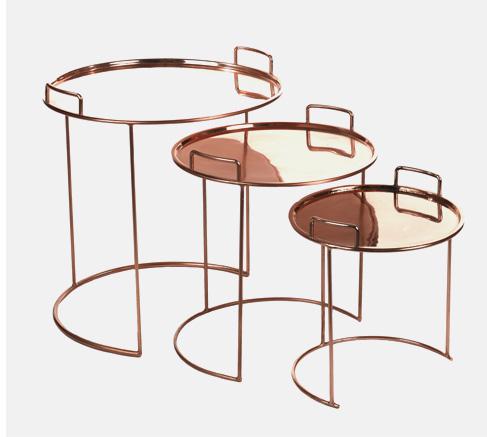 Tray Round Satz-Tische
