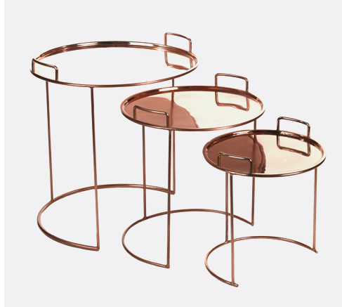 Tray Round Nested tables