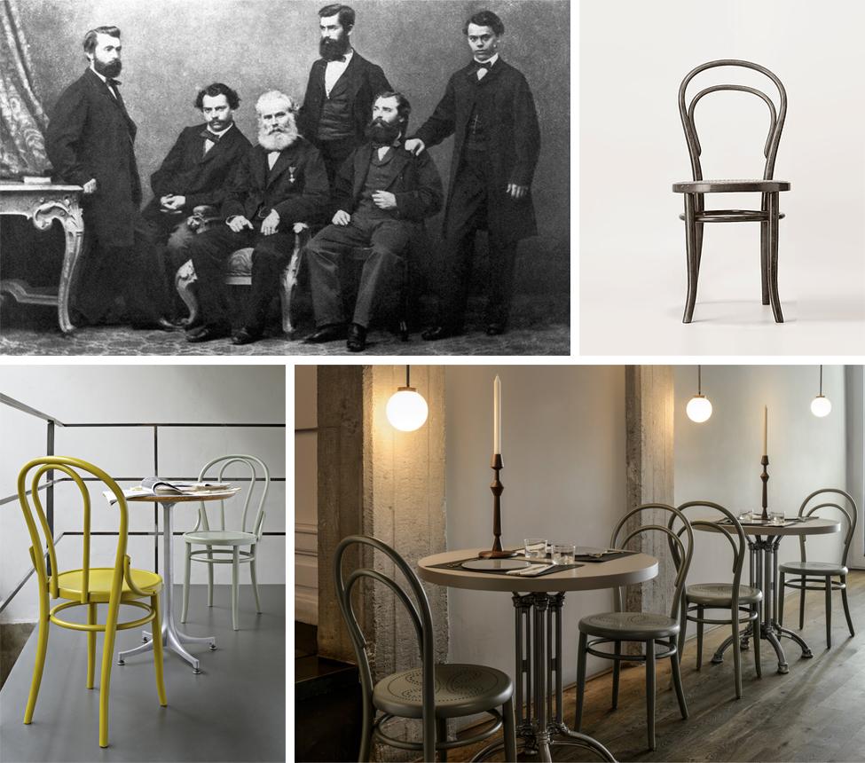 1860 & 1876: die Stühle n°14 und n°18