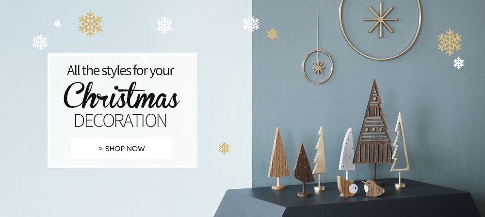 Christmas decoration and baubles on made in design