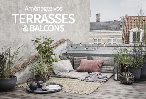 amnagez vos terrasses balcons illuminez vos extrieurs - Mobilier Exterieur Design