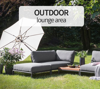 Outdoor lounge area
