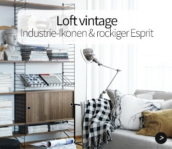 Loft vintage, Industrie-Okonen & rockiger Esprit