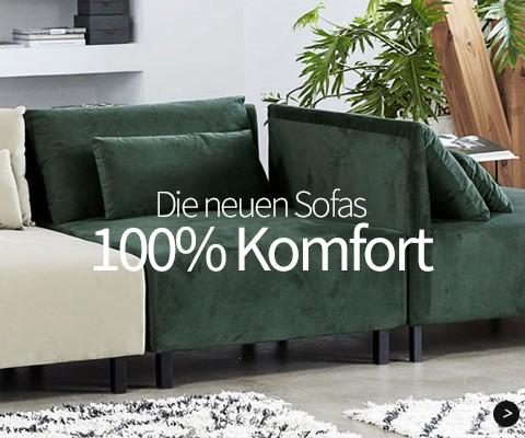 Die neuen Sofas 100% Komfort