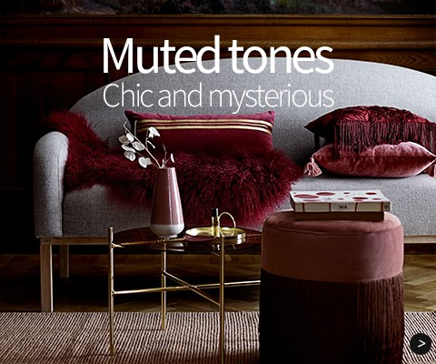 Muted tones: Chic and mysterious