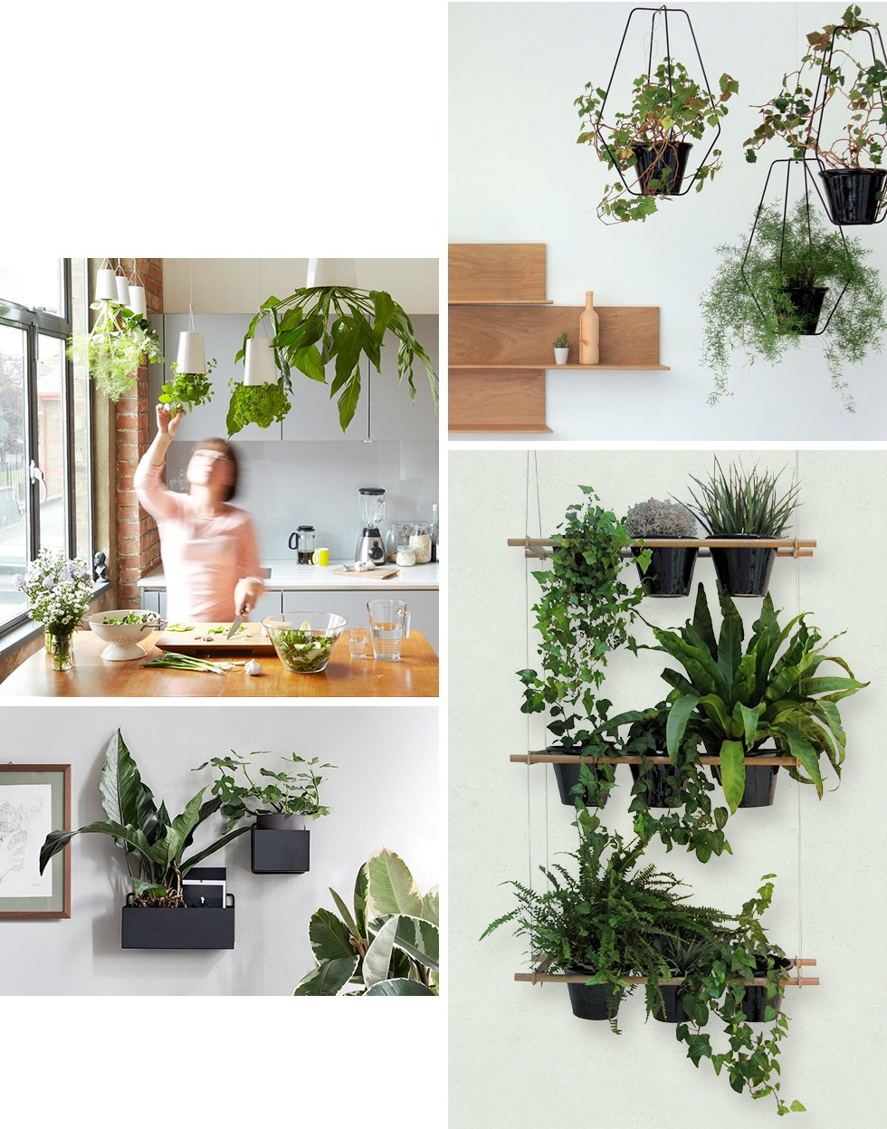 Sky Planter by Boskke / Etcetera Planter by Compagnie / Wall box by Ferm Living