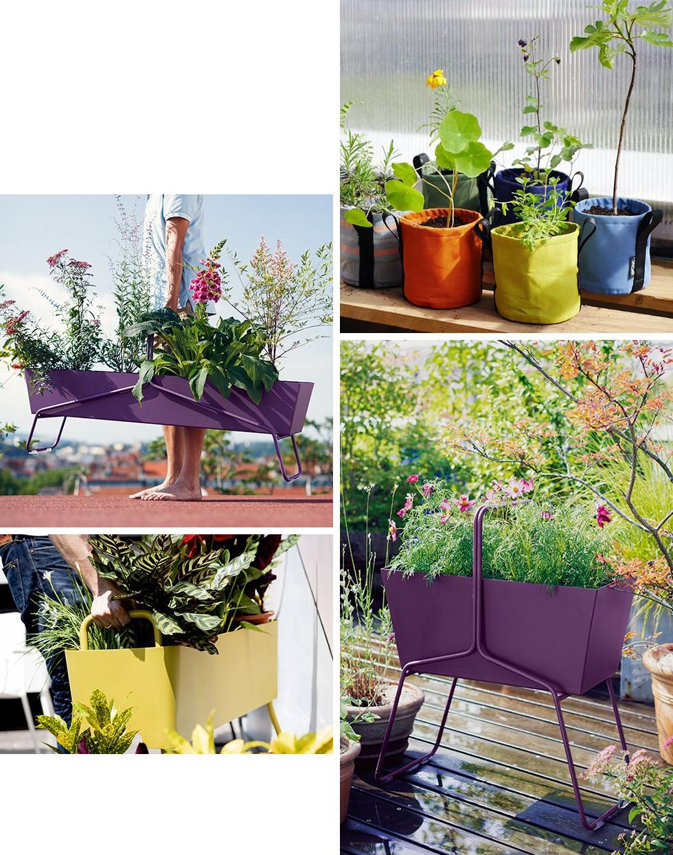Basket Flowerpot by Fermob / Batyline® Flowerpot by Bacsac / Greens Duo Flowerpot by Maiori