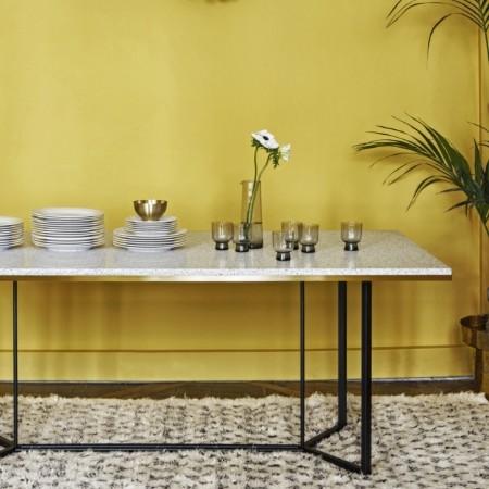 The terrazzo console table