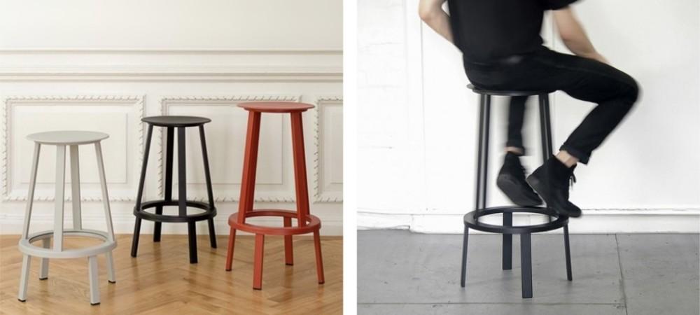 High metal stool