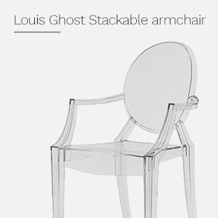 Louis Ghost Stackable armchair