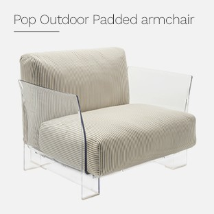 Pop Outdoor Padded armchair
