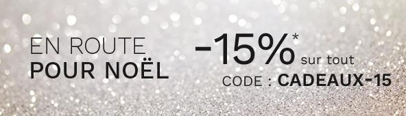 -15%* sur tout avec le code CADEAUX-15