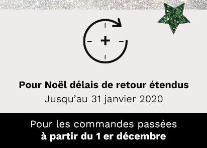 Pour Noël délais de retour étendus