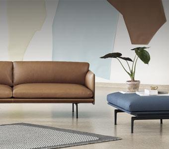 Canapé droit Outline de la marque Muuto