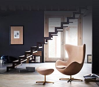 Poltrona girevole Egg chair di Fritz Hansen