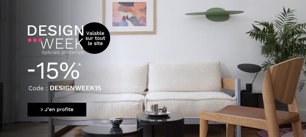 Designweek15 -15% dès 80€d'achat sur le site