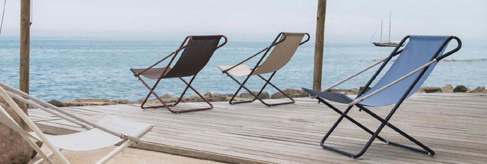 Chaise longue Vetta pliable 2 positions de la marque Emu