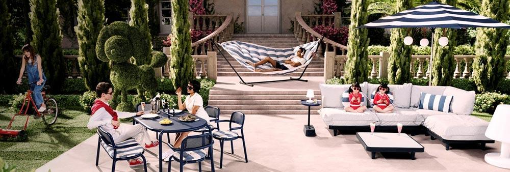 Croisette Sofa 2 Sitze L 122 cm Kunststoff-Geflecht Fermob