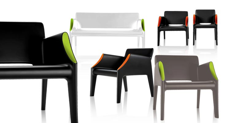 A New Pair Of Single Mould Products Manufactured Using The Rotational  Moulding Technique: A Two Seater Sofa Or Armchair With A Clean Silhouette  And Straight ...