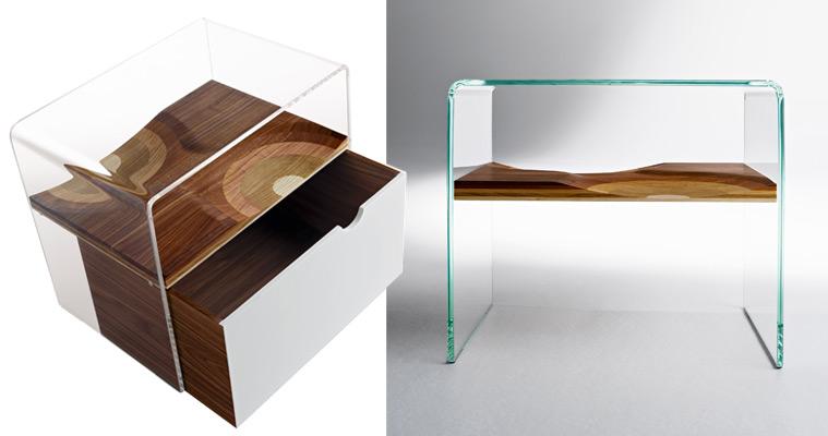 Made in design mobilier contemporain luminaire et d coration tendance pour - Table de chevet verre ...