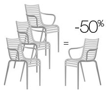 Lot de 4 chaises PIP-e