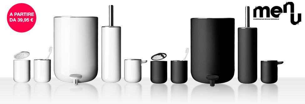 lo studio dei designer norm ha creato per menu una linea completa di accessori dedicata alluniverso della sala da bagno il design minimalista ed